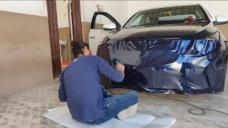 Chevrolet Cruze Vinyl Wrapping Mid Night Blue | Vwraps Sikar |