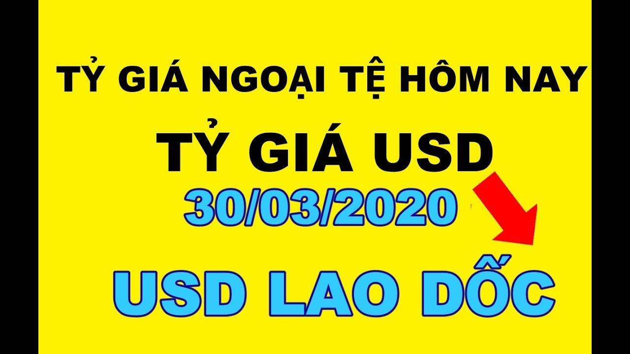 Tỷ giá ngoại tệ hôm nay 30/03/2020 – Tỷ giá USD Lao dốc
