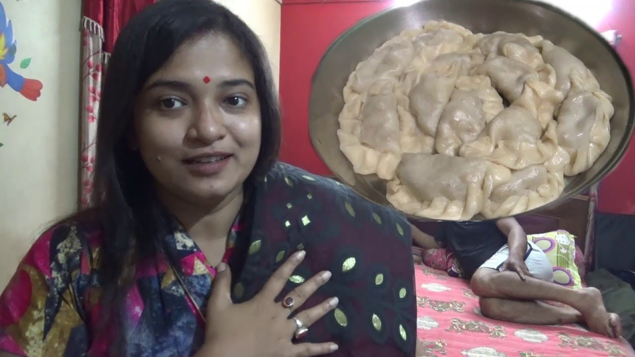 Enjoying Chicken Momo with Family & My Favorite Puja Shopping Started