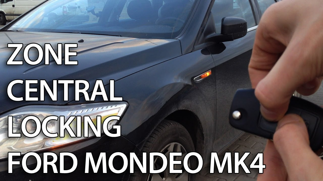 how to activate ford mondeo mk4 zone central locking (selective unlocking)  - youtube