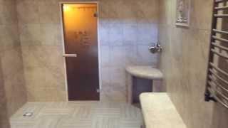 Душевая в бане(Стены и все конструкции выполнены из одинаковой плитки. Рязань. Только плитка. Дорого. ceramicmaster@list.ru., 2013-08-27T13:45:49.000Z)