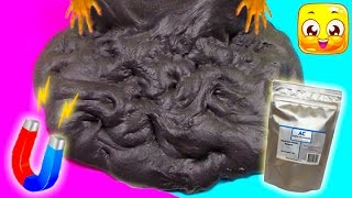 How To Make Magnetic Slime without Iron Filings and Borax! Giant Fluffy Slime Monster DIY Slime