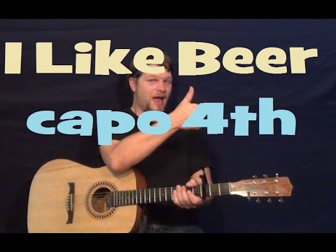 I Like Beer (Tom T Hall) Easy Guitar Lesson How to Play Tutorial Capo 4th