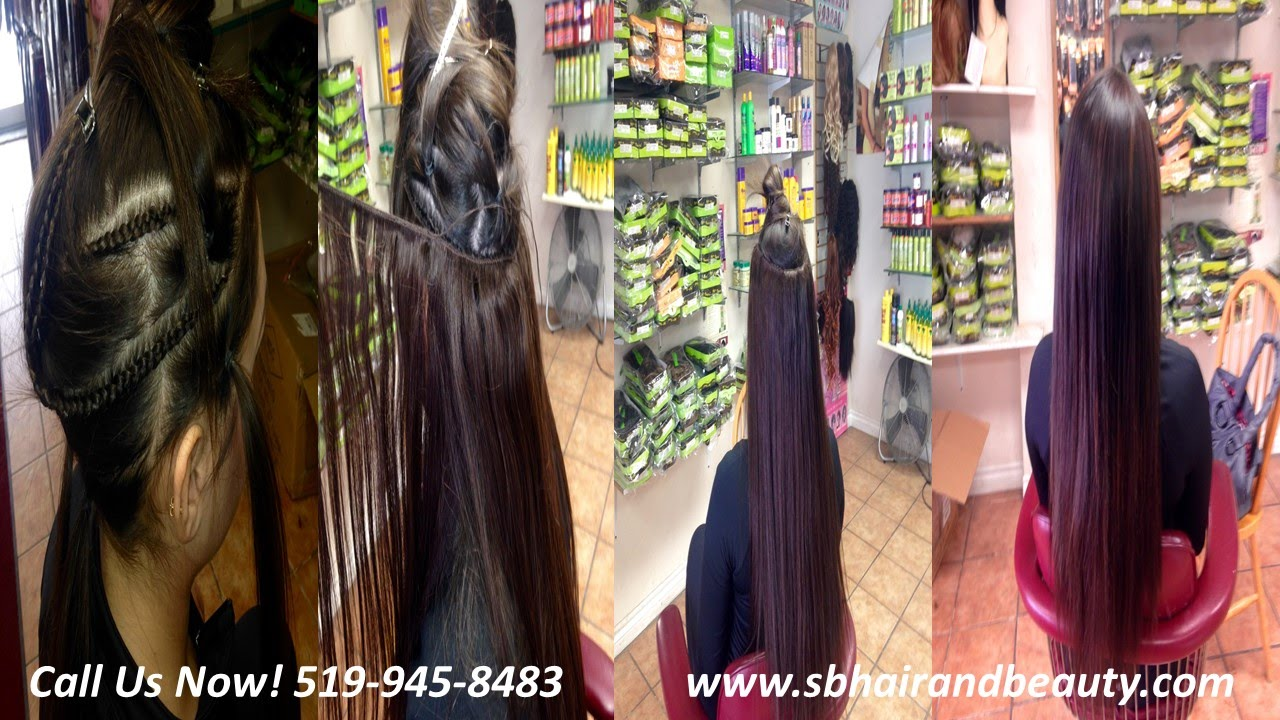 Sew In Hair Extension Before And After Windsor Ontario Youtube