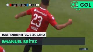 Emanuel Brítez (1-1) Independiente vs Belgrano | Fecha 12 - Superliga Argentina 2018/2019