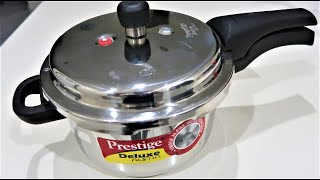 Prestige Deluxe Alpha Stainless Steel Pressure Cooker, 4 Litres, Review and Demo