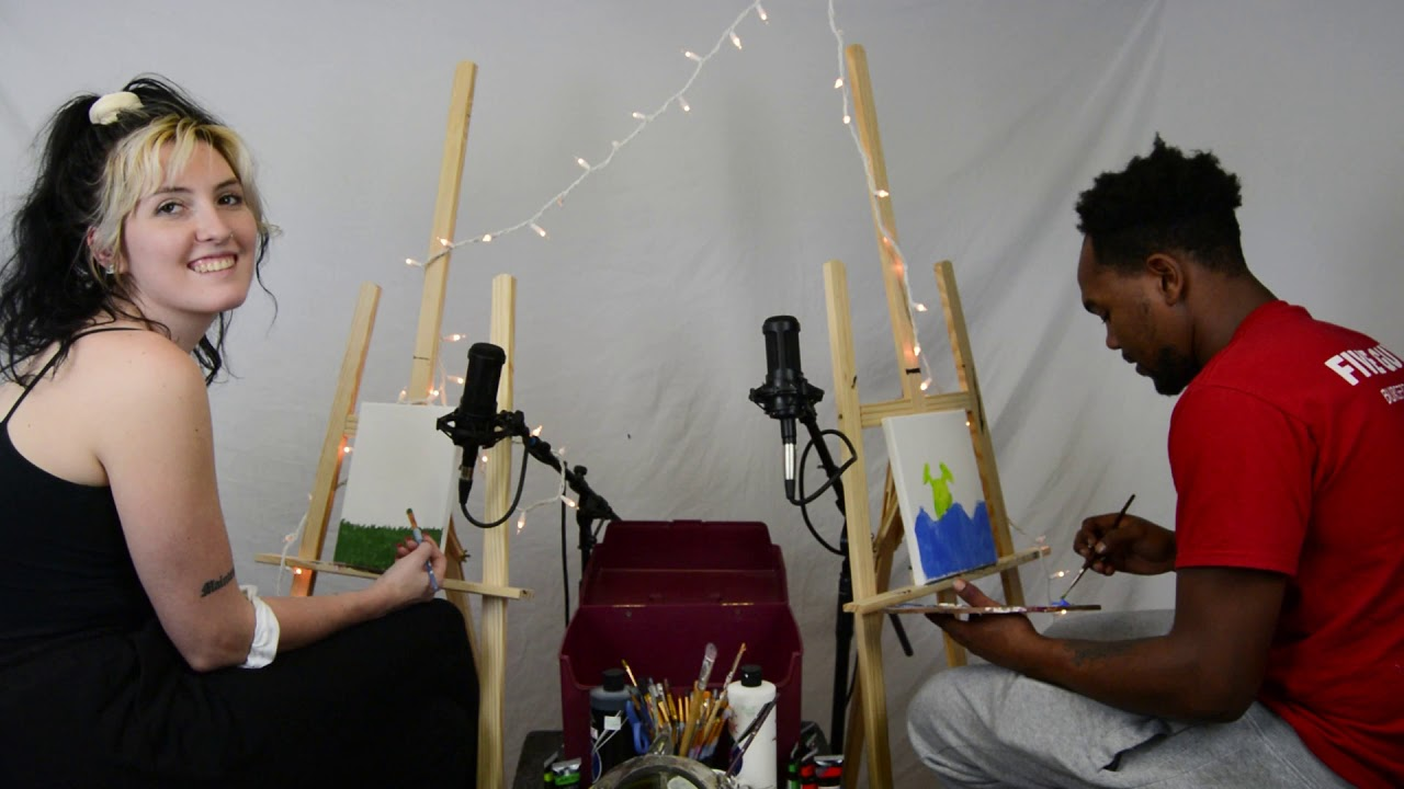 Zaywave Makes Art and Talks about Being a Fictional Character   Deadgirl's Paint Club #2