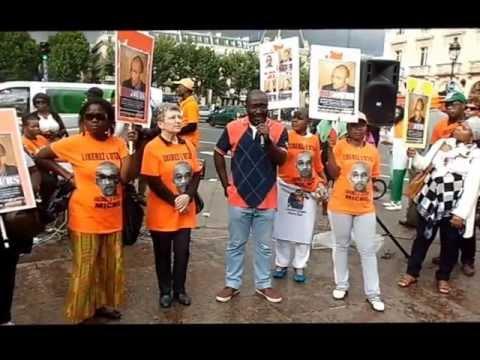 Manifestation à Paris pour la libération de Michel Gbagbo-23 juin 2013-place saint Michel