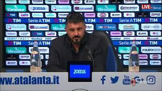 Gattuso conferenza post Atalanta - Milan 1-1 [FULL HD] 13.05.2018