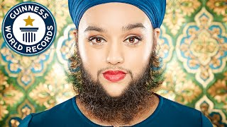 WOW! Youngest Female With A Full Beard Breaks The World's Record