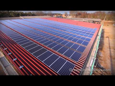 Installing Solar Panels - Solar PV Farm of Rooftop in Germany (Solon Sol Bond System)