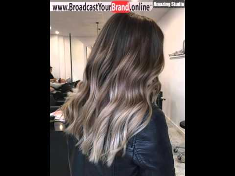 Dark Brown Hair With Ash Blonde Ombre Highlights Youtube