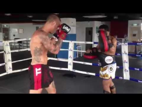 Ray Elbe training Malaysia Muay Thai @SpartaCombat Sports MMA & Fitness Center Kuala Lumpur