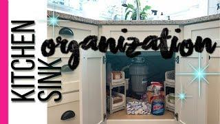 Organizing Under The Kitchen Sink Corner Sink Cleaning Supplies Organization Youtube