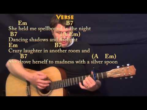 Backing track Lyin Eyes - The Eagles (chords and lyrics) http://www.david-lessons.com/egi/bar chord techniques Click this link to get a FREE