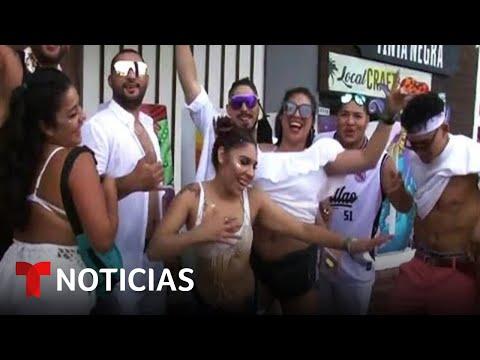 A pesar del COVID-19, México realizó el Baja Beach Fest   Noticias Telemundo