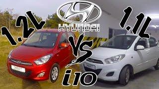 Hyundai i10 (1.2) vs Hyundai i10 (1.1) Тест-Драйв.  Андрей Smart.  - YouTube