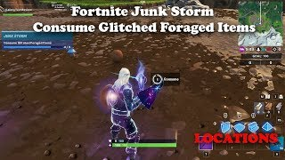Fortnite - Consume Glitched Foraged Items LOCATIONS