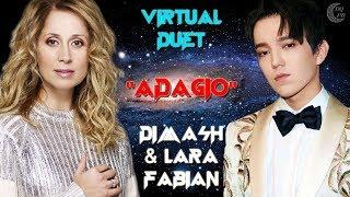 Dimash \u0026 Lara Fabian Virtual Duet «ADAGIO»EN/KZ/RU ❤ Димаш и Лара Фабиан Виртаульный дуэт «АДАЖИО»