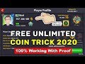 8 Ball Pool Free Unlimited Coin Trick 2020