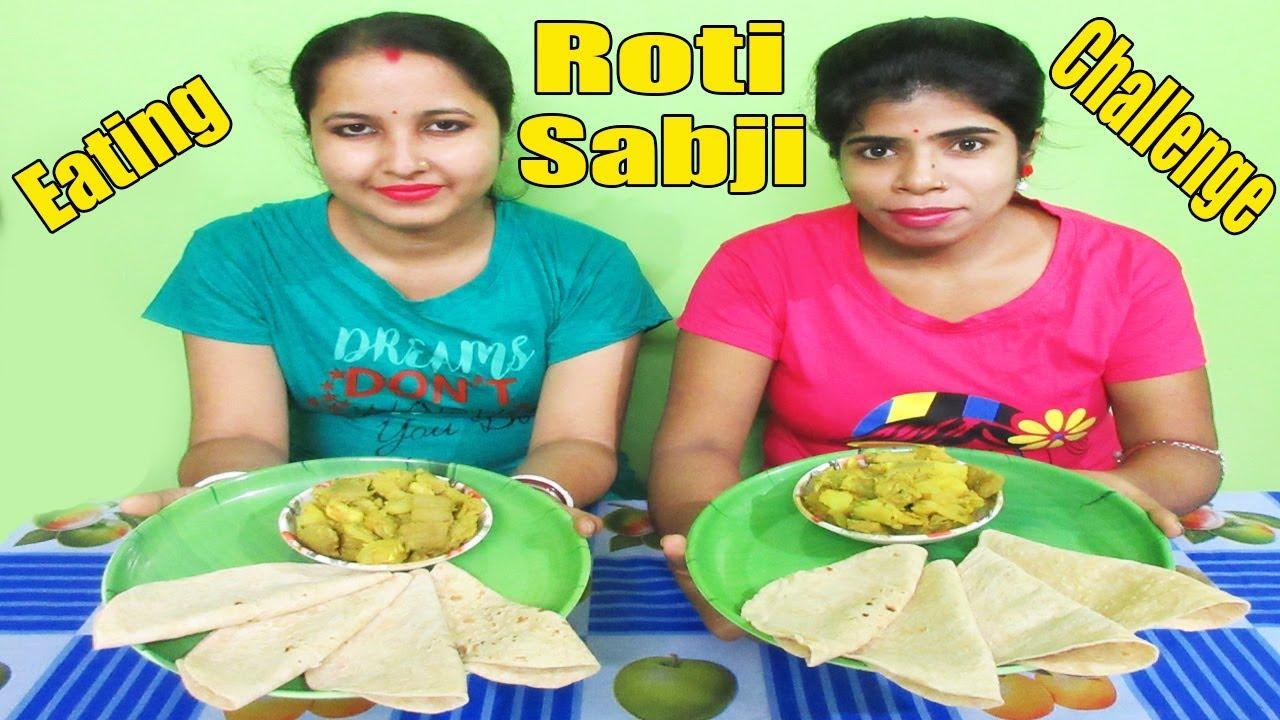 Roti & Sabji Eating Challenge - Food Challenge India - Food Challenge