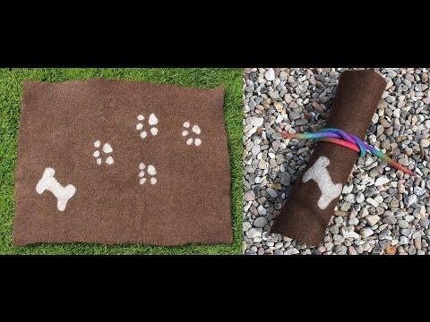 Filzen einer Hundedecke / Sitzkissen / Decke / felting