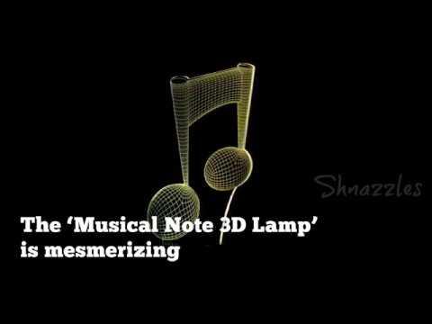 Music Note - 3D Optical Illusion LED Lamp Hologram