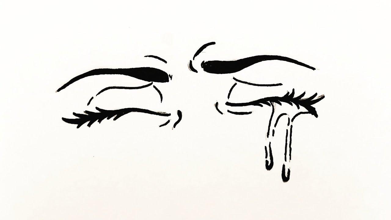 How To Draw Anime Eyes Crying Easy كيفية رسم عين انمي تبكي خطوة بخطوة رسم سهل بالرصاص للمبتدئين Youtube