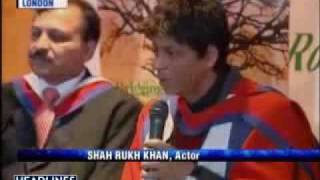 Dr. Shah Rukh Khan in London UK gets degree & talks about Michael Jackson
