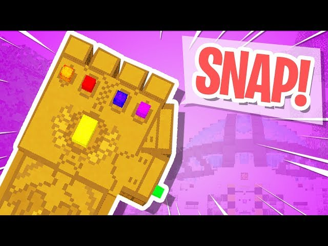 Thanos Infinity Gauntlet IN MINECRAFT!