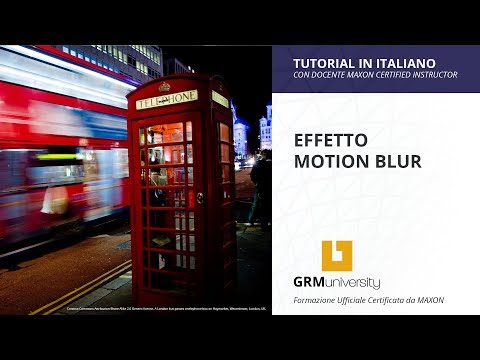 L'EFFETTO MOTION BLUR IN CINEMA 4D (Tutorial in Italiano)