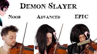 5 Levels of Demon Slayer Music: Noob to Epic (Ft. Pellek)