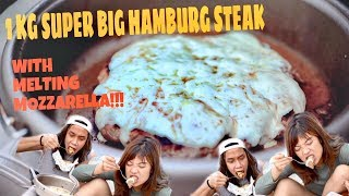 SUPER BESAR 1 KG HAMBURG STEAK BALUT MOZARELLA!!!