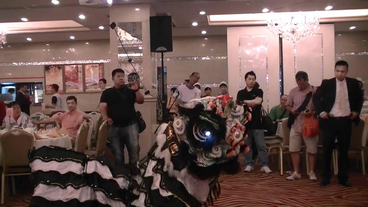 2012潮發龍獅團到賀香港陳嘉輝龍獅團恆豐堂花炮會(5) - YouTube