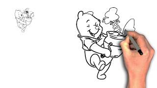 learn drawing winnie the pooh for kids | how to draw winnie the pooh | drawing winnie the pooh #7