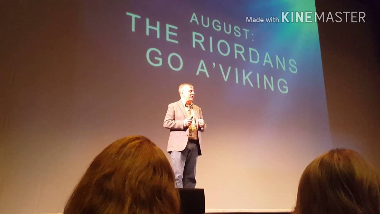 rick riordan the hammer of thor book tour 2016 minnesota