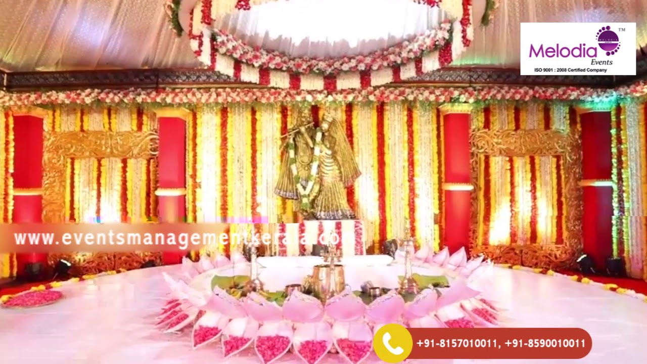 Hindu Wedding Stage Decoration In Palakkad Floral