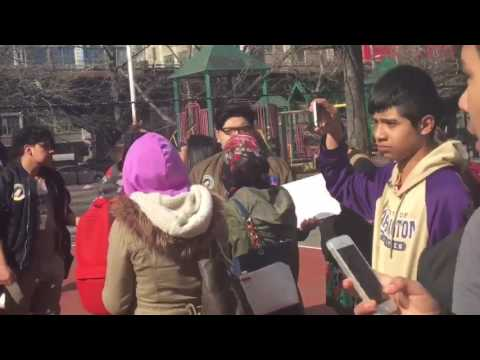 """Sunset Park High School students take the streets for """"Day Without Immigrants"""""""
