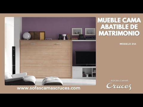 Mueble cama horizontal de matrimonio ¡Gran ahorro de espacio!