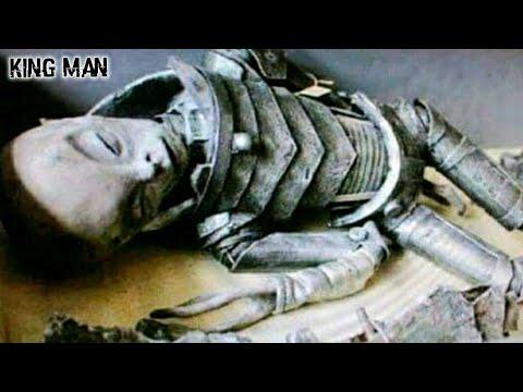 Alienigena con traje de oro encontrado en cámara de las Pirámides de Egipto adentro de un sarcófago