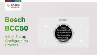 Bosch BCC50 WiFi Thermostat Initial Setup