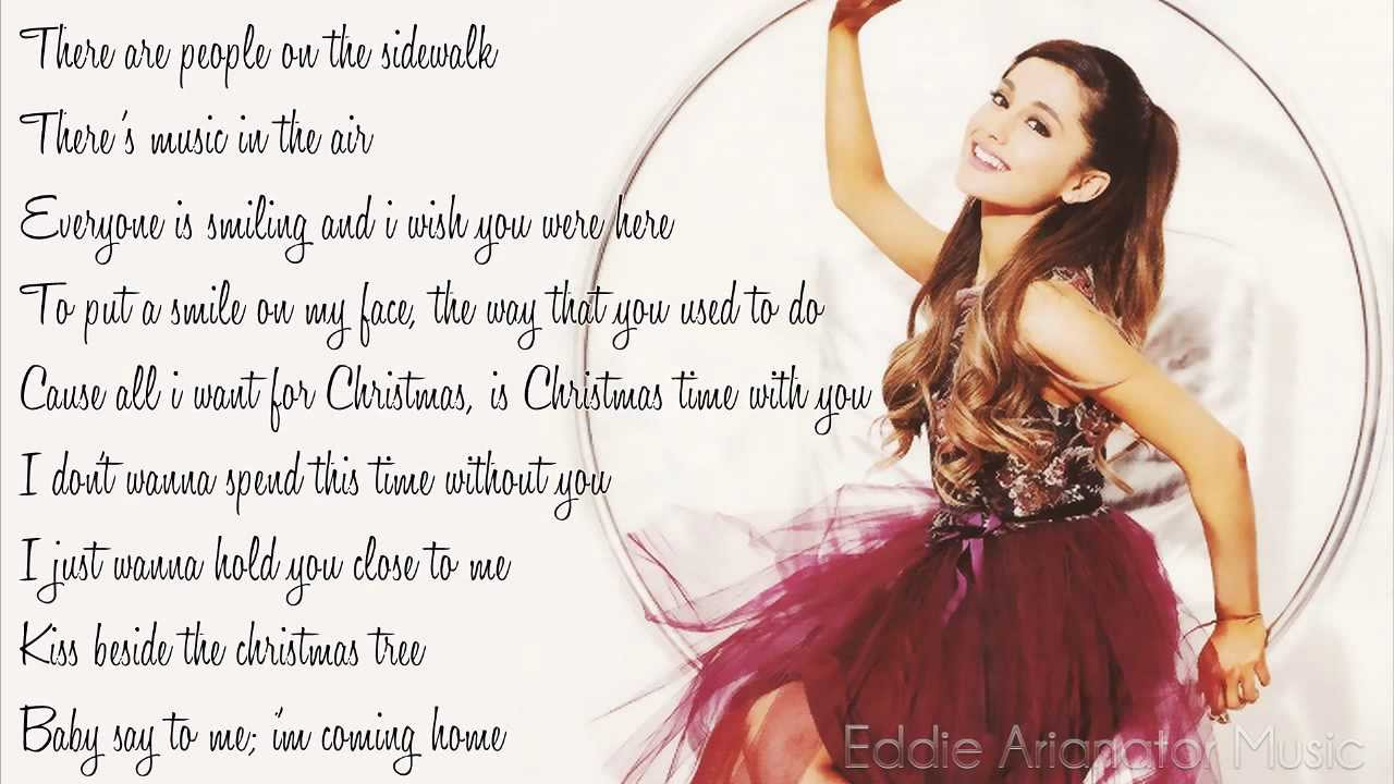 Ariana Grande - I Don't Want To Be Alone For Christmas (Lyrics ...