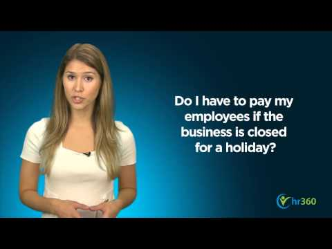 Holiday Pay and Time Off