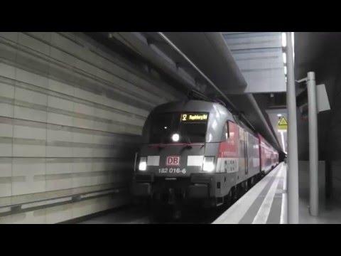 [City-Tunnel Leipzig] Abfahrt VVO-Werbelok mit S2 nach Magdeburg aus Leipzig Hauptbahnhof (tief)