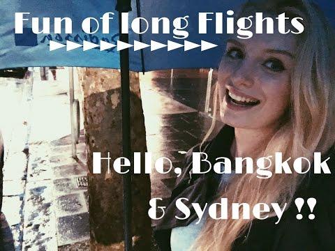 Emirates Cabin Crew - Fun of Long flights )) Bangkok/Sydney