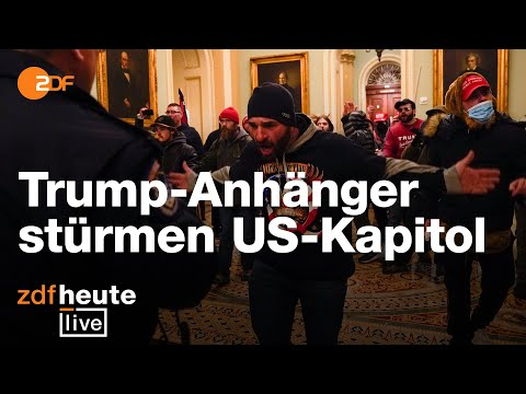 Trump-Anhänger stürmen US-Kapitol   ZDFheute live