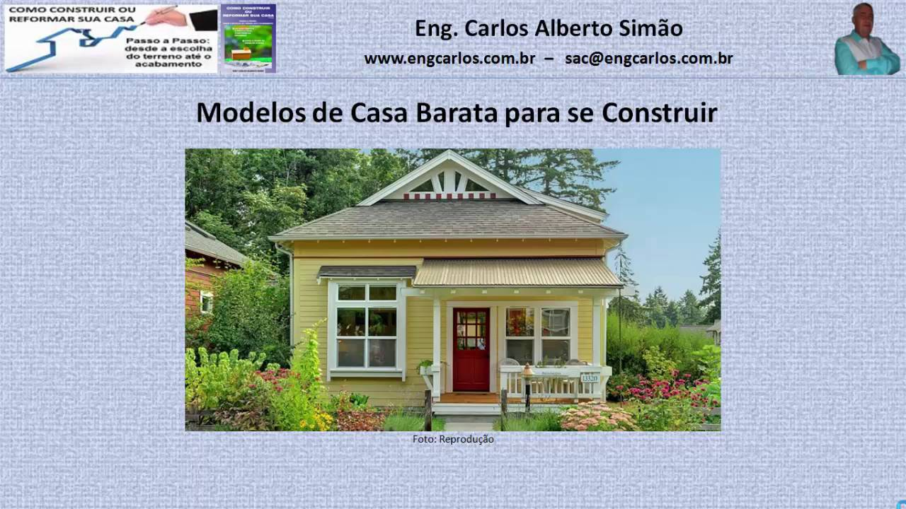 Modelos de casa barata para se construir youtube for Casa barata