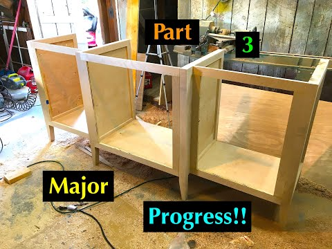 Diy: How to Build a Custom Buffet Server Cabinet Table Part 3