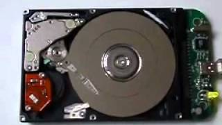 open Hard Disk Drive - showing Head Crash - YouTube.flv