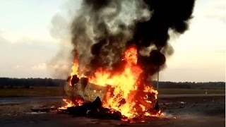 Подборка аварий с пожарами ч. 2